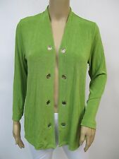 Womens Travel Knit Plus Sz 1X 3//4 Sleeve Open Front Cardigan Jacket Lime Green