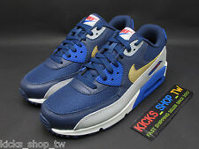 DS 2015 NIKE AIR MAX 90 ESSENTIAL NAVY GOLD GREY 537384-409 NSW RUNNING AM