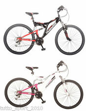 Muddyfox Mountain Bike BICICLETTA Black/Red White/Pink Shimano diverse misure sd