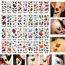 Waterproof Removable Fake Temporary Tattoos Sticker 3D Stickers Body Art Styles