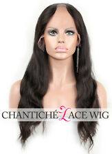 Cheap Indian Remy Hair U Part Lace Wigs Middle Part Natural Wave Human Hair Wigs