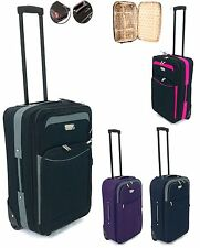 "Small Medium 23"" Lightweight Travel Wheeled Trolley Luggage Suitcase Bag Case"