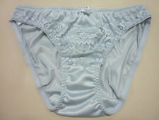 Vintage Sheer Lace Panties Nylon See Thru Hi-Cut String Bikinis Lingerie Sz L XL