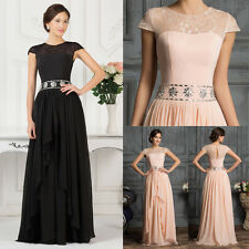 Chiffon Formal Long Bridesmaids Wedding Prom Masquerade Evening Dresses Plus +++