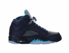 Kids Air Jordan 5 V Retro GS Pre Grape Hornets Navy Turquoise White 440888-405