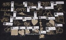 Chipboard Wordlets 'HEARTS & LOVE' Embellishments (Choose from 32) SCRAP FX