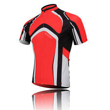 Red Cycling Jerseys Shirt Clothing Bicycle Sportwear Jacket Short Sleeve Top