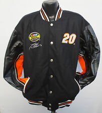 TONY STEWART HOME DEPOT LEATHER REVERSIBLE JACKET CHASE AUTHENTICS NASCAR RACING