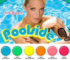 China Glaze Nail Polish Lacquer Poolside Collection 0.5oz/14ml