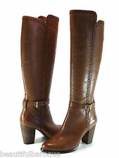 UGG Australia Claudine Chestnut Brown Leather Whipstitch Knee High Boot Size 9.5