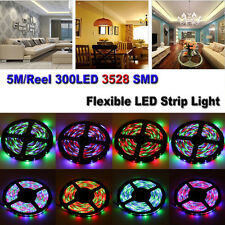 5M 300leds 3528 SMD Non/Waterproof Flexible LED Strip Light Remote Adapter Kits