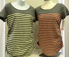 NEW 2 X Liz Lange Maternity Short Sleeve Shirt Top Pregnant - 2 Pack