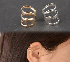 1Pair New Hot Ear Jewelry retro Silver  Modish Cuff Clip On earrings