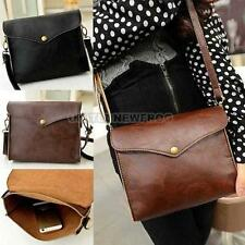 RETRO WOMEN PU LEATHER ENVELOPE HANDBAG PURSE CROSSBODY SATCHEL SHOULDER BAG
