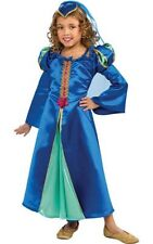 BLUE RENAISSANCE MAID MARION PRINCESS CHILD GIRLS FANCY DRESS BOOK WEEK COSTUME