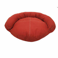 Saddle Stitch Red Canvas Bolster Dog Bed