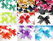 50 POLKA DOT RIBBON BOW WEDDING GIFT DOLL CHRISTMAS CARD SCRAPBOOK CRAFT DIY