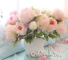 1 BUNCH ARTIFICIAL PEONY HOME/TABLE CENTERPIECE DECOR WEDDING BRIDAL FLOWER