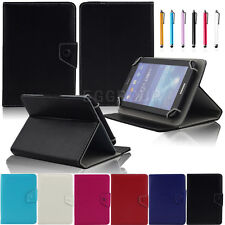 Universal Leather Stand Case Cover + Stylus For Nextbook Ares 8 NXA8QC116 Tablet