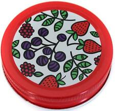 18 Orchard Road Canning Storage Caps Lids Fruit Gingham Daisy For Mason Jars