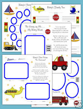 Transportation Premade Scrapbook Pages Baby 12x12 Truck Album Adoption Twin Gift