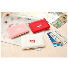Hot Women Bowknot Business ID Credit Cute Card Pocket Bag Wallet Holder Case