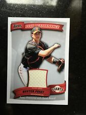 BUSTER POSEY 2010 Topps Peak Performance Relic RC HOT Giants World Series