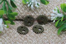 New 10/30/50pcs Retro bronze Gear charm alloy Jewelry finding Pendant 12mm