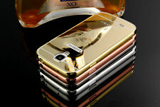 Ultra-thin Luxury Mirror Aluminum Frame Case Cover For Samsung S4 S5 S6 note 3 4