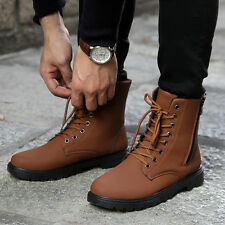Mens Retro Combat England-style Casual shoes Punk Combat Winter Short boots Z304