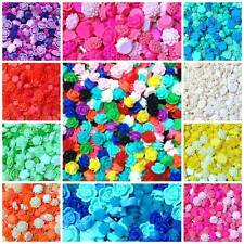 Mixed Flatback Resin Flower Cabochons Embellishments Cardmaking Decoden Crafts