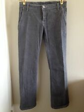 NAKED & FAMOUS Japan raw selvedge heathered grey stretch Trouser Girl jean 27