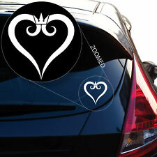 Kingdom Hearts Inspired Heart Crown Vinyl Decal Sticker # 491