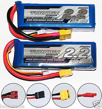 2X Turnigy 3s 11.1v RC Lipo Battery 2200mah 20C - 30C Car Plane Helicopter Boat