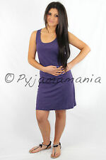 New Ladies Summer Casual Slip Dress Purple Sz 8 10 12 14 16