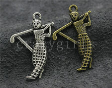 8/30/150pcs Antique Silver Lovely Golf Ambassador Jewelry Charms Pendant 31x21mm