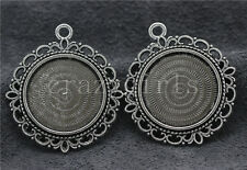 Lot 2/8/40pcs Tibet silver/Bronze Cameo Cabochon Base Setting Charms DIY 43x39mm