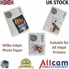 Wilko Photo Paper 120gsm 170gsm 250gsm A4 6x4 Glossy or Matte for Inkjet Printer