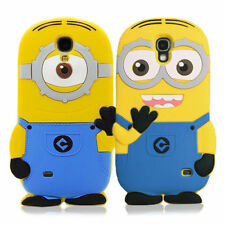 Cute 3D Despicable Me Minions Soft Silicone Case Cover for Samsung Galaxy S4