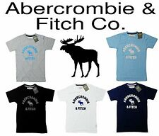 Abercrombie Fitch A&F 2015 Summer Cotton Men Women Tees Crew Shirt Top S M L XL