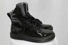 Dr. Doc Martens MIX Black Patent Padded Collar High Tops MSRP $130 NEW