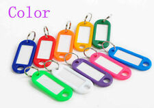 10 Pcs Assorted Colour PVC Key Ring Tag Cover Cap 10-02