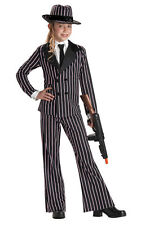 Gangster  Girls Pinstriped Child Zoot Suit  Halloween Costume 00301 New
