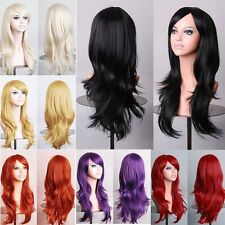 USA Seller 23'' Long Layered Cosplay Wig Full Wigs Fancy Dress Costume Party New