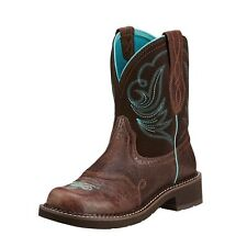 WOMENS ARIAT BROWN CHOCOLATE FUDGE COWGIRL BOOTS FATBABY 10016238
