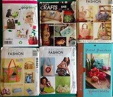 Bags, Totes, Purses, Pouches , Shopping Bags Sewing Pattern Sold Individually