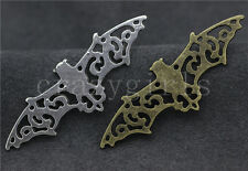 5/20/100pcs Tibetan Silver Lovely bat Connector Jewelry Charms Pendant 56x19mm
