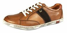 POD Kyle Mens Tan Leather Casual Formal Lace Up Low Top Trainers Shoes