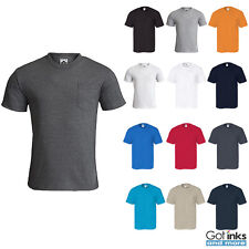 New Men's Pocket Tee T-Shirt Heavy Cotton Jersey Sizes S-3XL Plain Solid Tee