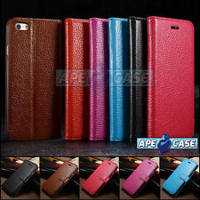 Flip Wallet Real Leather Case Cover for iPhone 5 5S 5C 6 6 Plus